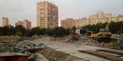 Снос недостроенной школы на улице Кораблестроителей, 19, корпус 7