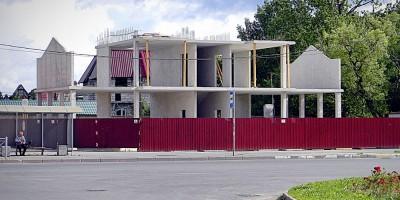 Строительство банка на улице Халтурина в Петергофе