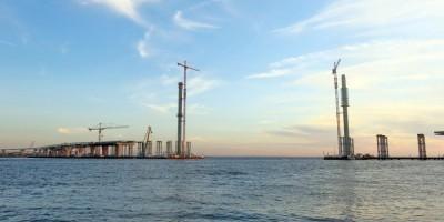 Строительство вантового моста на ЗСД
