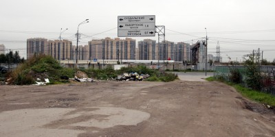 Улица Симонова, грунтовка