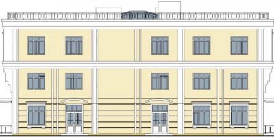 Дом престарелых в Павловске, проект бокового фасада
