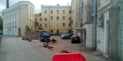Левашовский проспект, демонтированная ограда