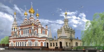 Проект воссоздания Скорбященской церкви на проспекте Обуховской Обороны с часовней