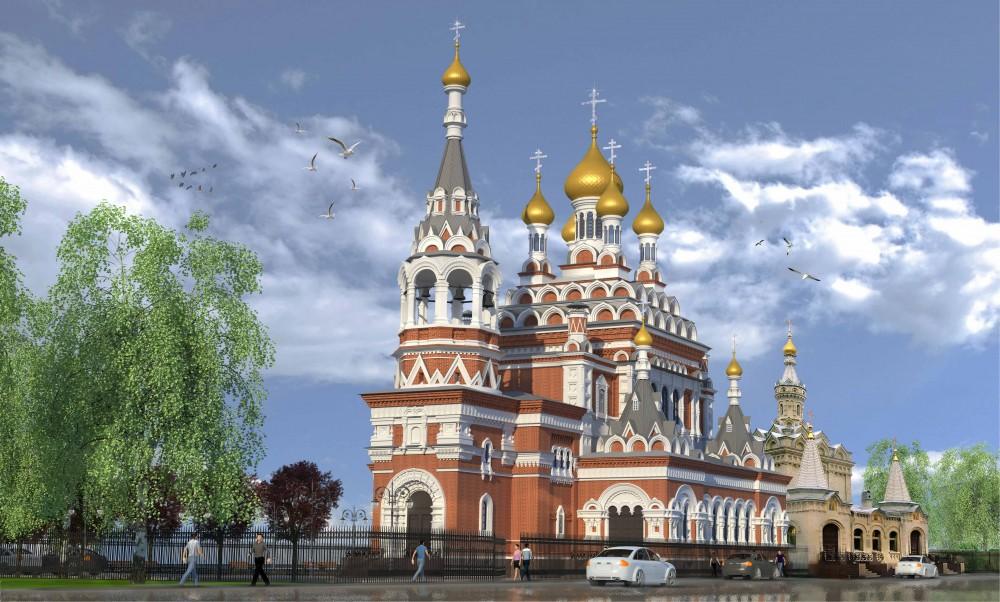 Проект воссоздания Скорбященской церкви на проспекте Обуховской Обороны