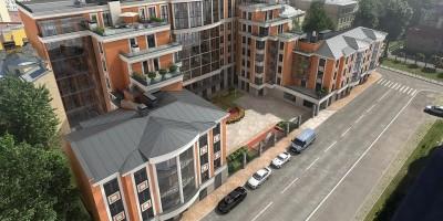 Проект жилого дома на Большой Зелениной улице, вид сверху