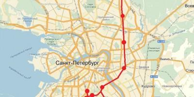 Схема внутригородской электрички в Петербурге