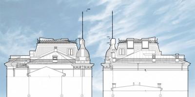 Эскиз купола на здании петербургской таможни на Васильевском