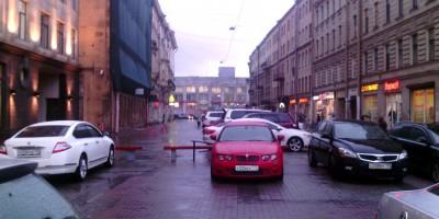 Пешеходная зона в Финском переулке