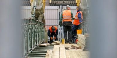 Банковский мост, замена настила