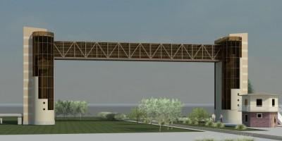 Мост-теплотрасса на Торфяной