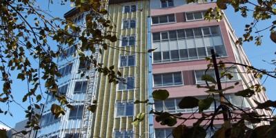 Набережная реки Смоленки, 3, корпус 2, недоделанный фасад