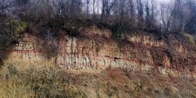 Обнажения палеозойских горных пород