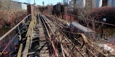 Ольховка, железнодорожный мост на Грязный остров
