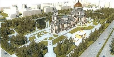 Проект собора в Малиновке, парк