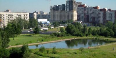 Пруд на улице Бутлерова