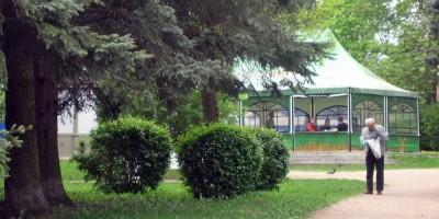 Шатер летнего кафе в Пушкине