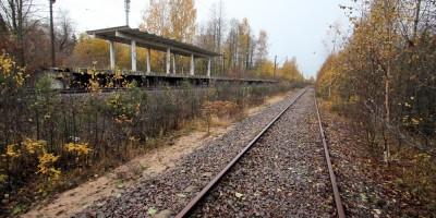 Станция Морская, железнодорожный путь