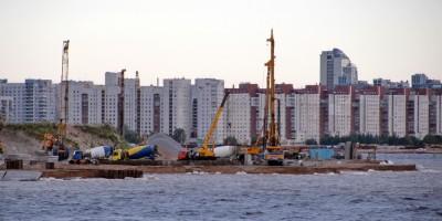 Строительство станции Новокрестовская