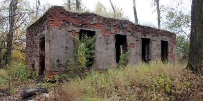 Варшавская железная дорога, заброшенное здание