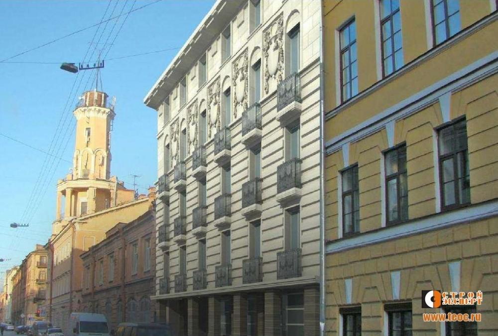 Большая Подьяческая улица, 28, проект жилого дома, перспектива
