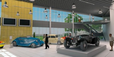 Музей ретроавтомобилей, интерьер