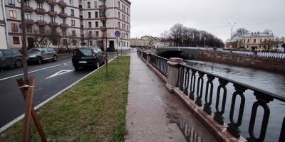 Набережная канала Грибоедова, после ремонта стенок