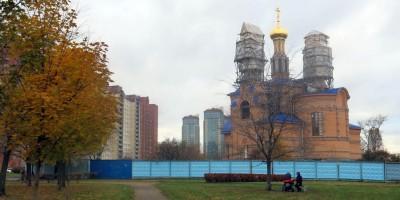 Строительство церкви Рождества в Рыбацком