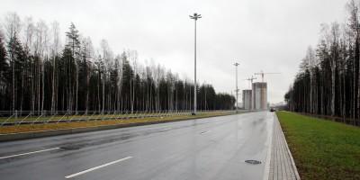 Суздальское шоссе рядом с дорогой в Каменку