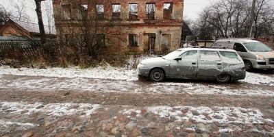 Усть-Ижора, Шлиссельбургское шоссе, булыжник