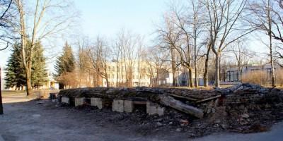 Дом Юферовой в Пушкине, фундамент