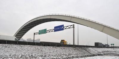 Мост с теплотрассой над КАД