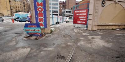 Пионерская улица, трамвайный путь к фабрике Красное знамя