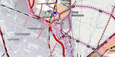 Пискаревский проспект на генплане Всеволожского района