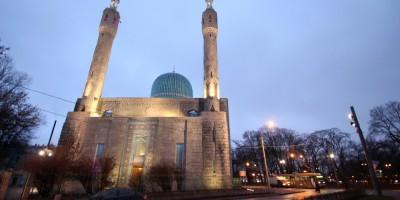 Соборная мечеть в Петербурге, подсветка