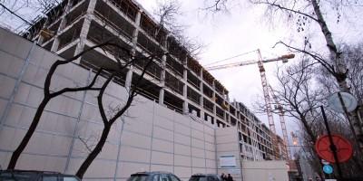 Строительство многопрофильной клиники ВМА, улица Доктора Короткова
