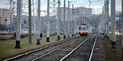 Трамвайные пути на Петергофском шоссе