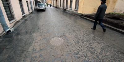 Улица Репина, мощение