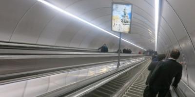 Эскалаторы на Выборгской