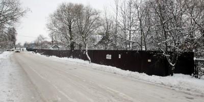 Гуммолосары, Садовая улица, незаконный забор