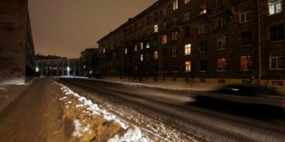 Лермонтовский переулок без освещения