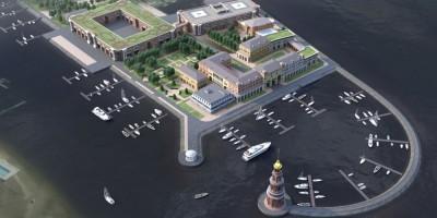 Проект застройки яхт-клуба на Петровской косе