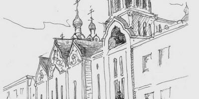 Храм в Транспортном переулке вскоре после постройки
