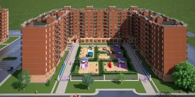 Красный Кирпичник, проект жилого дома, двор