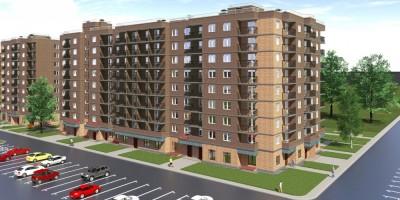 Красный Кирпичник, проект жилого дома, зелень