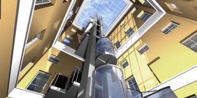 Проект лифта в Михайловском дворце в концепции Трофимовых