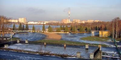 Приморский парк Победы, вид на Старую Деревню