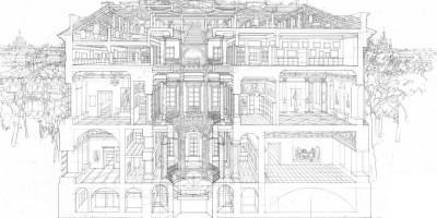 Реконструированный дворик в разрезе— концепция Михаила Филиппова