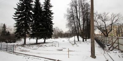 Среднеохтинский проспект, капитальный ремонт сквера