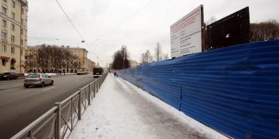 Среднеохтинский проспект, ремонт сквера
