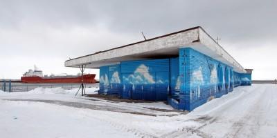 Здание вокзала паромной переправы, Ломоносов